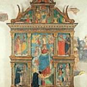 Bartolomeo De Benzi, Madonna And Angels Poster by Everett