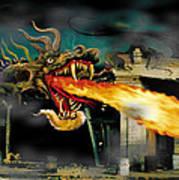 Barton The Mutant Salamander Poster