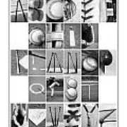Baseball Alphabet Poster