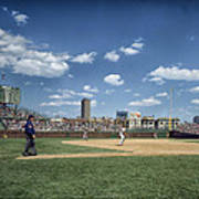 Baseball At Wrigley Field In The 1990s Poster