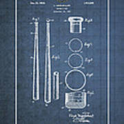 Baseball Bat By Lloyd Middlekauff - Vintage Patent Blueprint Poster