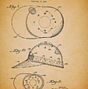 Baseball Cap Patent 1955 Poster