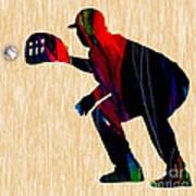 Baseball Catcher Poster