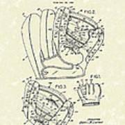 Baseball Glove 1953 Patent Art Poster by Prior Art Design
