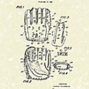 Baseball Glove 1970 Patent Art Poster by Prior Art Design