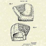 Baseball Mitt 1945 Patent Art Poster by Prior Art Design