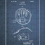 Baseball Mitt By Archibald J. Turner - Vintage Patent Blueprint Poster