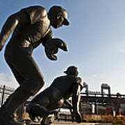 Baseball Statue At Citizens Bank Park Poster by Bill Cannon