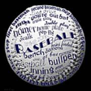 Baseball Terms Typography 2 Poster