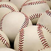 Baseballs II Poster by Ricky Barnard