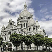 Basilica Of The Sacred Heart Paris France Poster