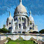 Basilica Sacred Heart- Paris Poster