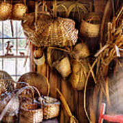 Basket Maker - I Like Weaving Poster by Mike Savad