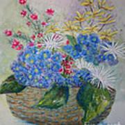 Basket Of Flowers Poster by Terri Maddin-Miller
