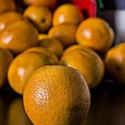 Basket Of Oranges Poster by Jeff Burton