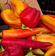 Basket Of Peppers Poster
