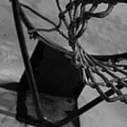 Basketball At Night Poster