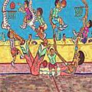 Basketball Daycare Poster by Richard Hockett