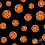 Basketball Pattern Poster