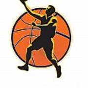 Basketball Player Lay Up Ball Poster