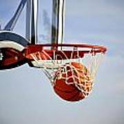 Basketball Shot Poster by Lane Erickson
