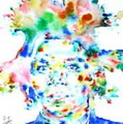 Basquiat Jean Michel Watercolor Portrait Poster