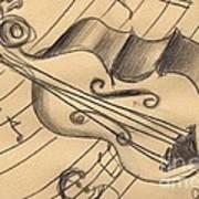 Bass Doodle Poster