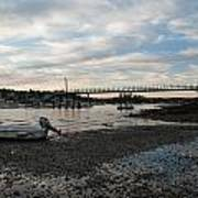 Bass Harbor At Low Tide Poster