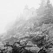 Bass Harbor Head Light In Fog Poster
