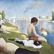Bathing At Asnieres Poster by George-Pierre Seurat