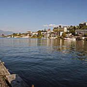 Bathing At Lake Atitlan Poster