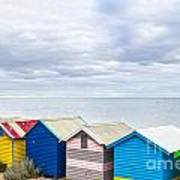 Bathing Huts Brighton Beach Melbourne Australia Poster by Colin and Linda McKie