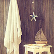 Bathroom Interior Poster by Amanda Elwell