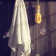 Bathroom Towel Poster by Amanda Elwell