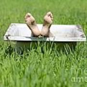 Bathtub And Feet Poster