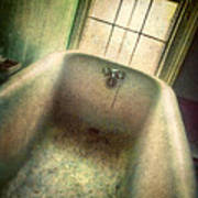 Bathtub In Abandoned House Poster