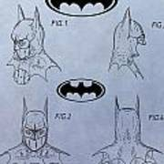 Batman Mask Patent Poster