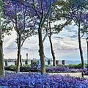 Battery Park In The Spring Poster