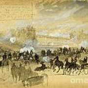 Battle At White Oak Swamp Bridge Poster
