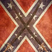 Battle Flag Civil War Confederate States Poster