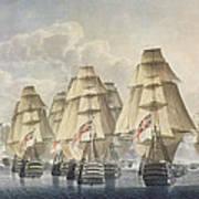 Battle Of Trafalgar Poster by Robert Dodd
