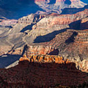 Battleship Rock At The Grand Canyon Poster