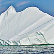 Batwing Iceberg In Saint Anthony Bay-newfoundland-canada  Poster