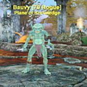 Bauvy As A Goblin Rogue Poster