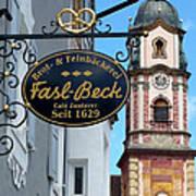 Bavarian Bakery Sign  Poster