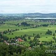 Bavarian Green Valley Poster