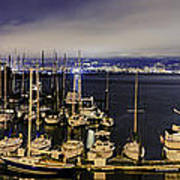 Bay Bridge East Span With Yachts Poster