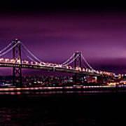 Bay Bridge Purple Haze Poster