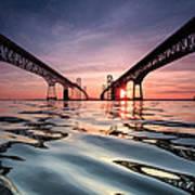 Bay Bridge Reflections Poster by Jennifer Casey