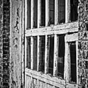 Bay Door In B/w Poster